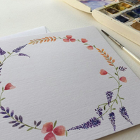 Personalised floral wreath card