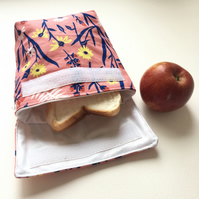 Reusable snack bag square base