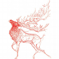 The Stag (red)