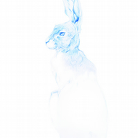 Greeting Card - 'The Blue Hare'