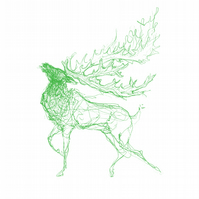 The Stag (green)