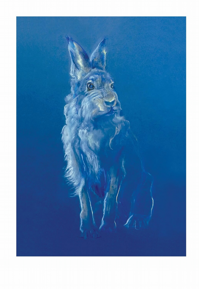 Mountain Hare King A3 Print