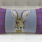 'Kismat' Indian Hare Cushion with Harris Tweed