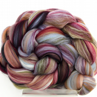 Tapestry Custom Blend Merino Silk Combed Top 100g for Spinning Felting