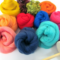 Drop Spindle Kit Learn to Spin your own Yarn Gift Set 200g Wool Boxed