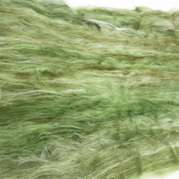 Carded Batt Merino & Silk Olive Tree 100g Fine Merino Wool XL Spinning Felting