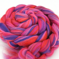 Day-Glo Blend Merino Combed Top 100g for Spinning and Felting