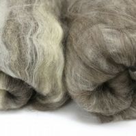 Natural Variety Breeds of Wool Carded Batt 200g 3.5 ounce