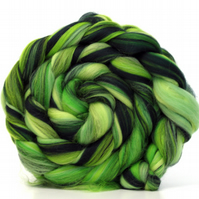 Rainforest Blend Merino Combed Top 100g for Spinning and Felting