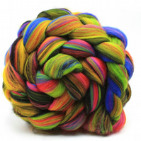Fireworks Merino Combed Wool Top 100g for Spinning and Felting