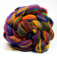 Rainbow Blend Merino Wool Combed Top 100g