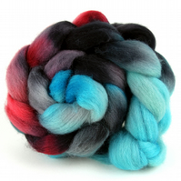 Hand Dyed Texel Wool 100g 3.5oz Spinning Felting Fibre  Combed Wool Top TX01
