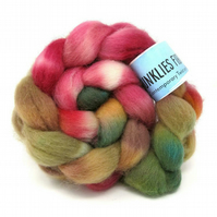 Dorset Horn Hand Dyed Combed Wool Top British Breed 100g DH1
