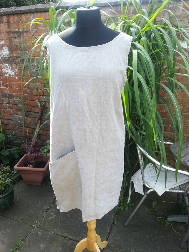 Eco rustic    linen dress  layering