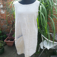 Eco rustic    linen dress size XL layering