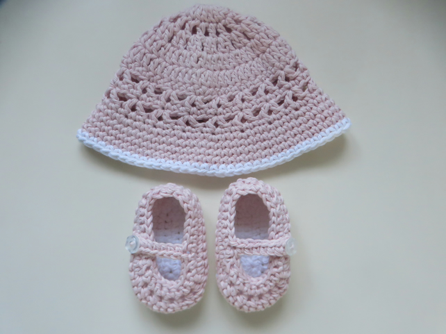 Crocheted Hat Baby Girl/'s Knitted Hat 100/% Cotton Pink