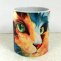 Cat Coffe Mug, Ceramic mugs, Tea mugs, Cat Mug, Unique mug, Home gift,
