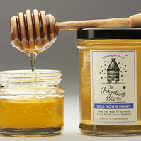 Wild Flower Honey with Honeycomb (2 jars)