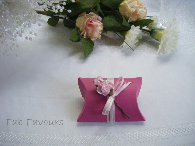 Readymade wedding favours custom made to your requirements - fuschia pink