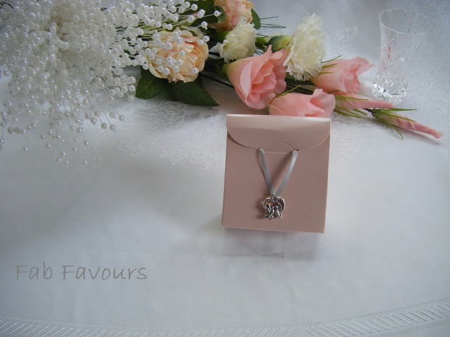 Readymade wedding favours custom made to your requirements - pearly pink