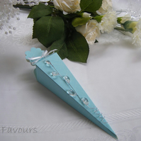Readymade wedding favours custom made to your requirements - Aqua blue
