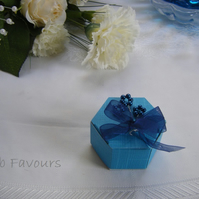 Readymade wedding favours custom made to your requirements - Turquoise