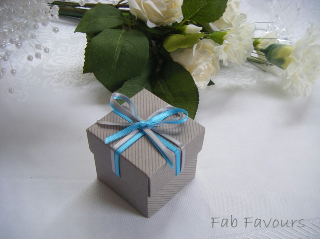 Readymade wedding favours custom made to your requirements - Dove grey