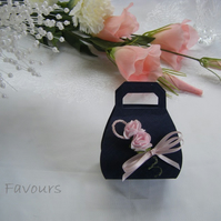 Readymade wedding favours custom made to your requirements - navy blue