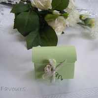 Readymade wedding favours custom made to your requirements - Soft green