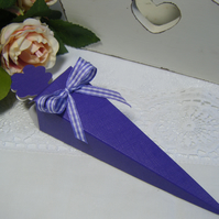 Readymade wedding favours custom made to your requirements - Purple
