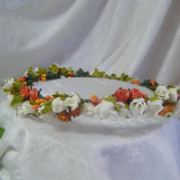 Handmade wedding  bridal crown circlet headpiece