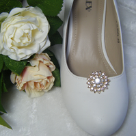 Wedding bridal shoe clips
