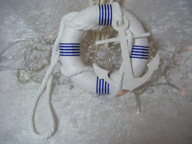 Nautical or Beach Themed Wedding Pew or Venue Decoration