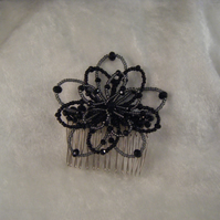 Christmas Party Hair Comb Black