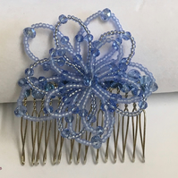 Christmas Party Hair Comb Blue