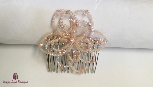 Christmas Party Hair Comb Pink