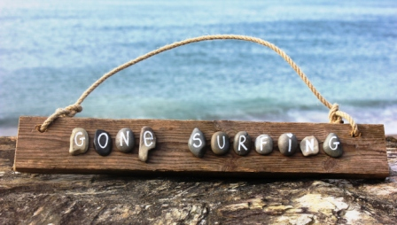 'Gone Surfing' Cornish Driftwood Sign