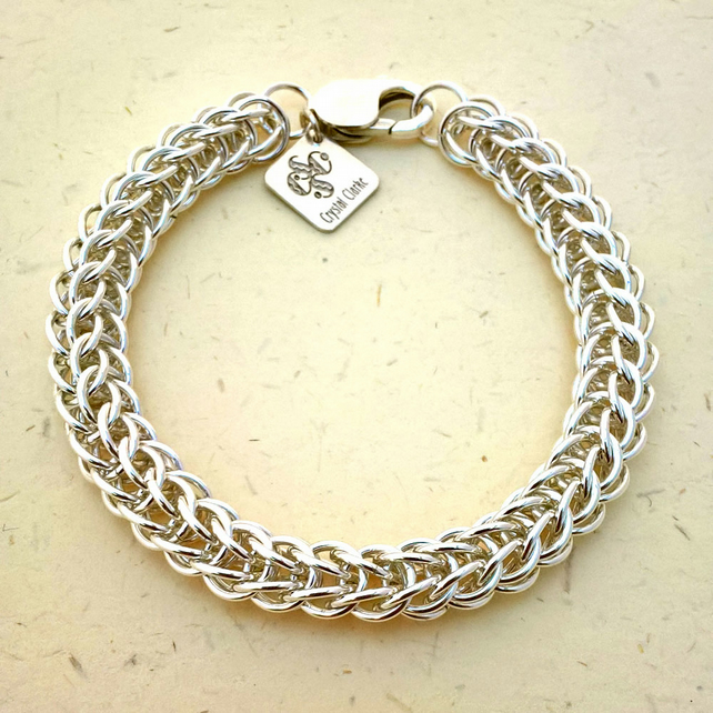 A Unisex Sterling Silver Chainmaille Bracelet for all Occasions.