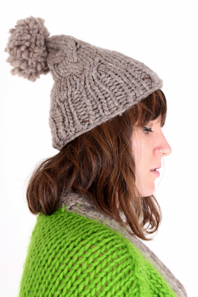 'Dye Another Day' Hand-Knitted Pom-Pom Hat