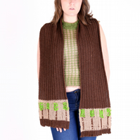 'Darts Farm' Hand-Made British Alpaca Scarf
