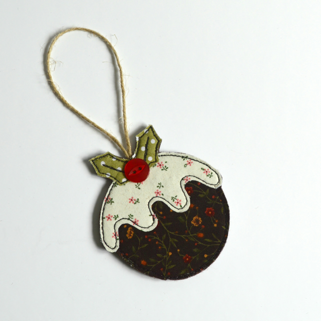 Handmade Christmas Pudding hanging tree decoration