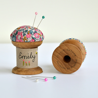 Personalised pincushion, embroidered pincushion, pincushion, personalised gift