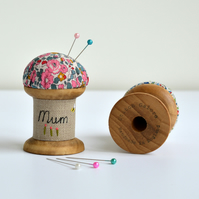 Mum pincushion, personalised mum pincushion, personalised mum gift, Mother's day