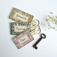 Personalised keyring, personalised key ring, grandparent keyring