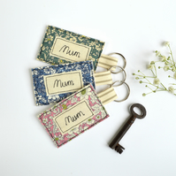 Mum keyring, mum key ring, mum keyfob, personalised keyring, mother's day gift