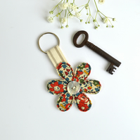 Flower keyring, Flower key fob, flower key chain, new home gift, flower key-ring