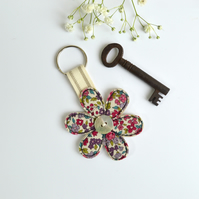 Flower keyring, Flower key fob, Housewarming, New home gift, key ring