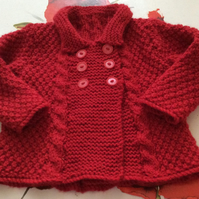 1-2yrs Ruby Red Vintage Dress Coat