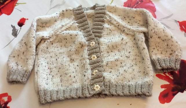 20 inch Brown Spotty Cardigan