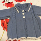 20 inch Blue and White Vintage Dress Coat